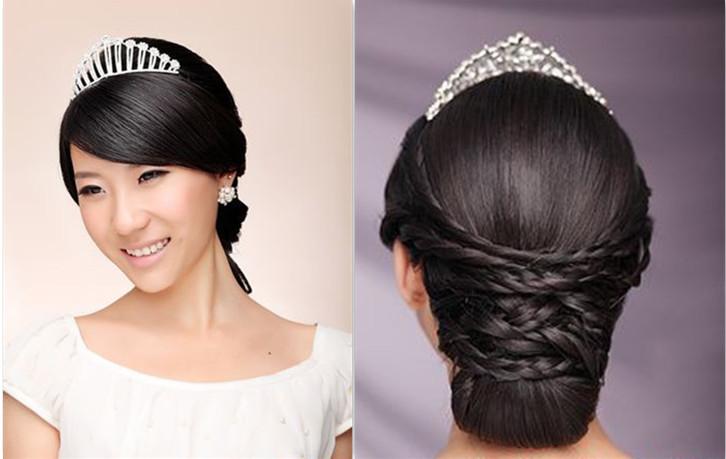 多款韩式新娘编发,盘包发型造型图片