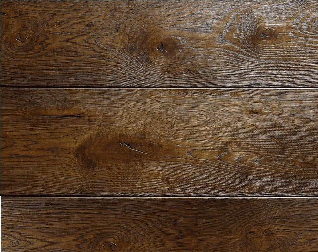 世界经典艺术地板欣赏——摩卡色浮雕仿古橡木实木地板