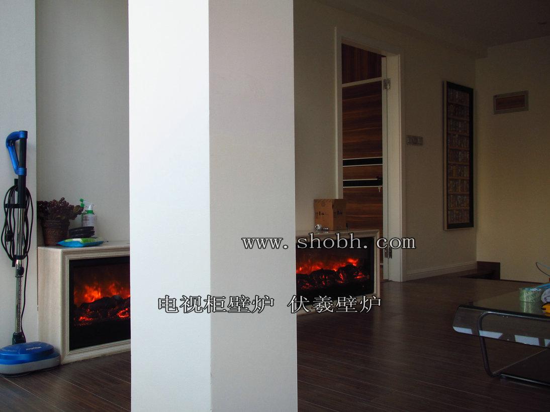 [时尚设计资讯] 【别墅家装长条形电视柜壁炉经典装饰