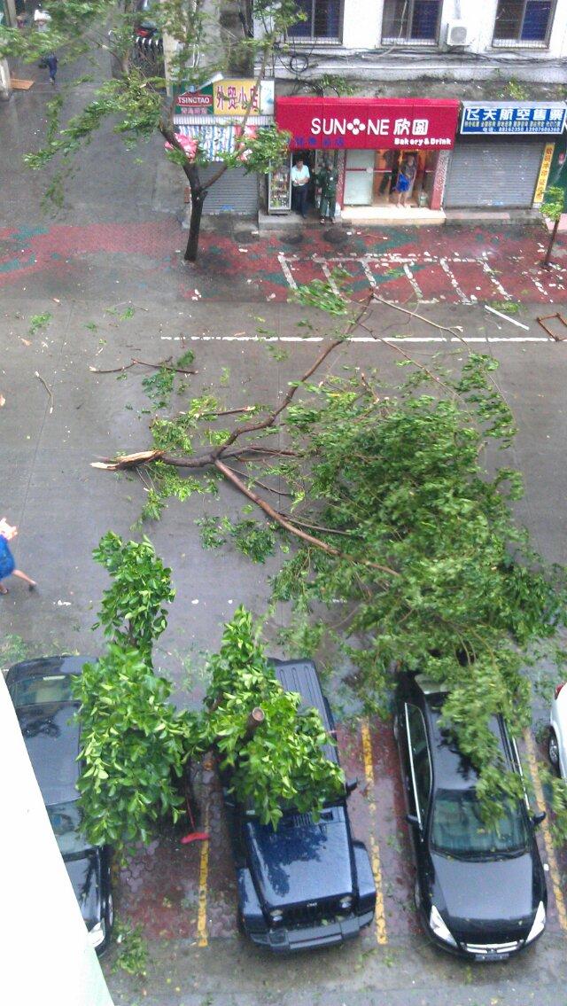 在海南三亚----经历的海燕台风