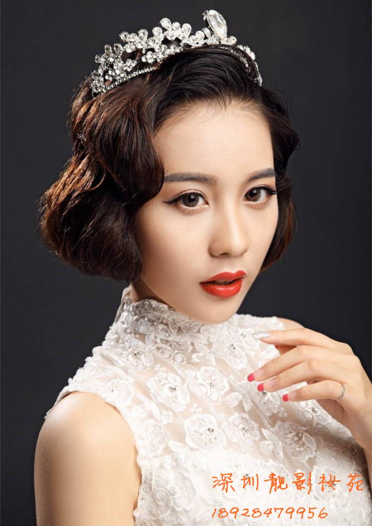 中式新娘拍照造型