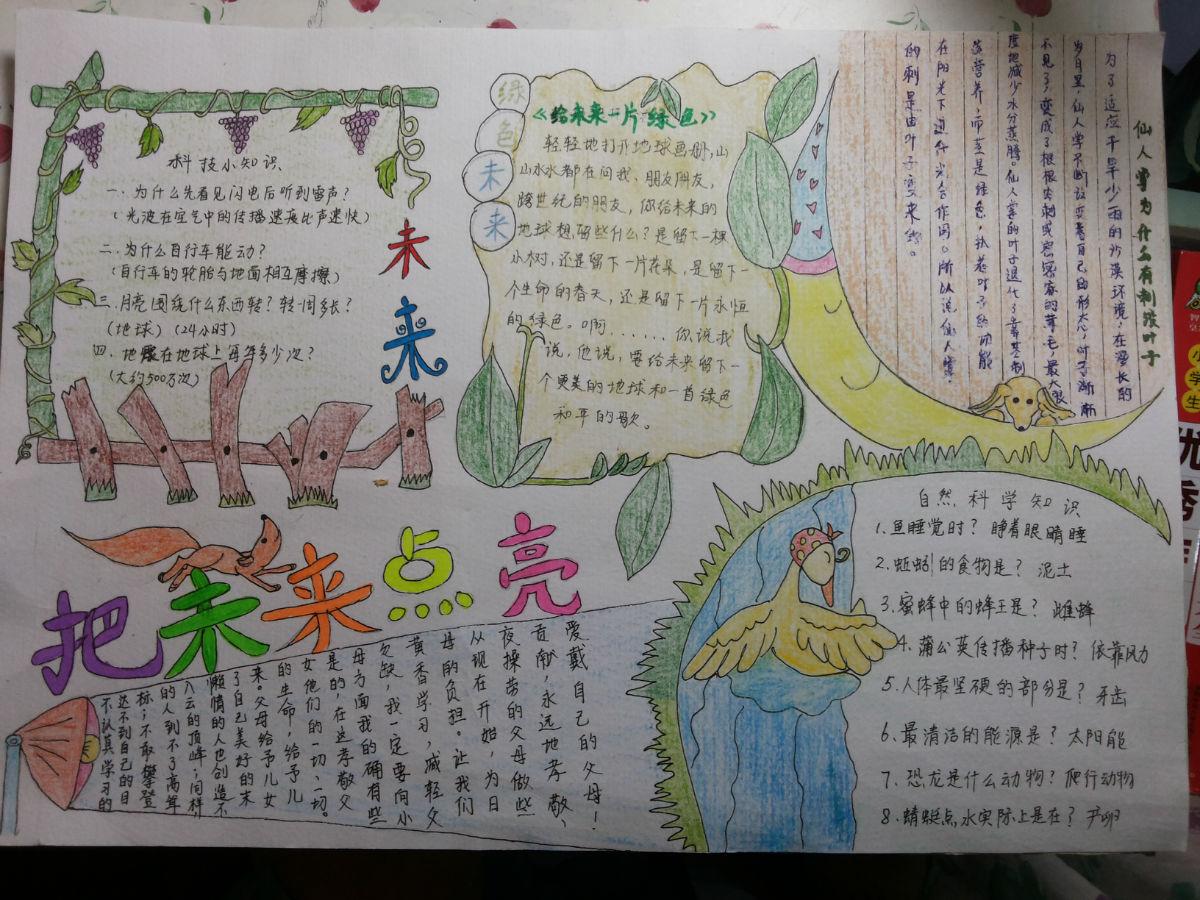 记录孩子的画和手抄报