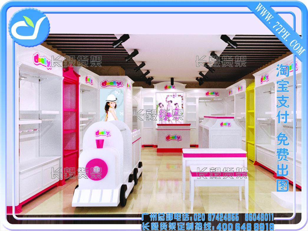 童装店面装修丨童装店铺装修设计丨童装专卖店效果图丨韩国童装店图片