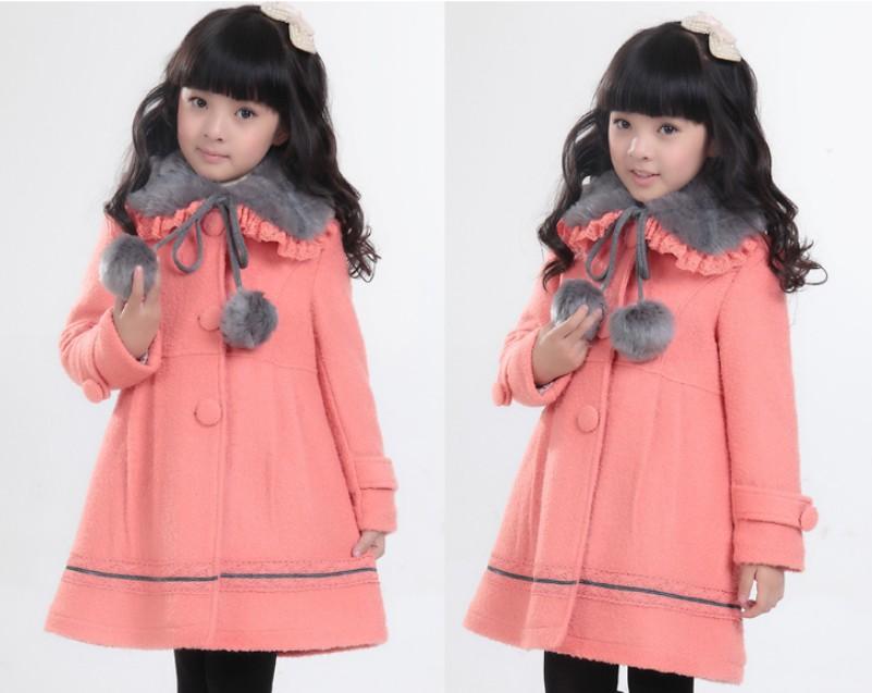 儿童女童漂亮的呢子大衣