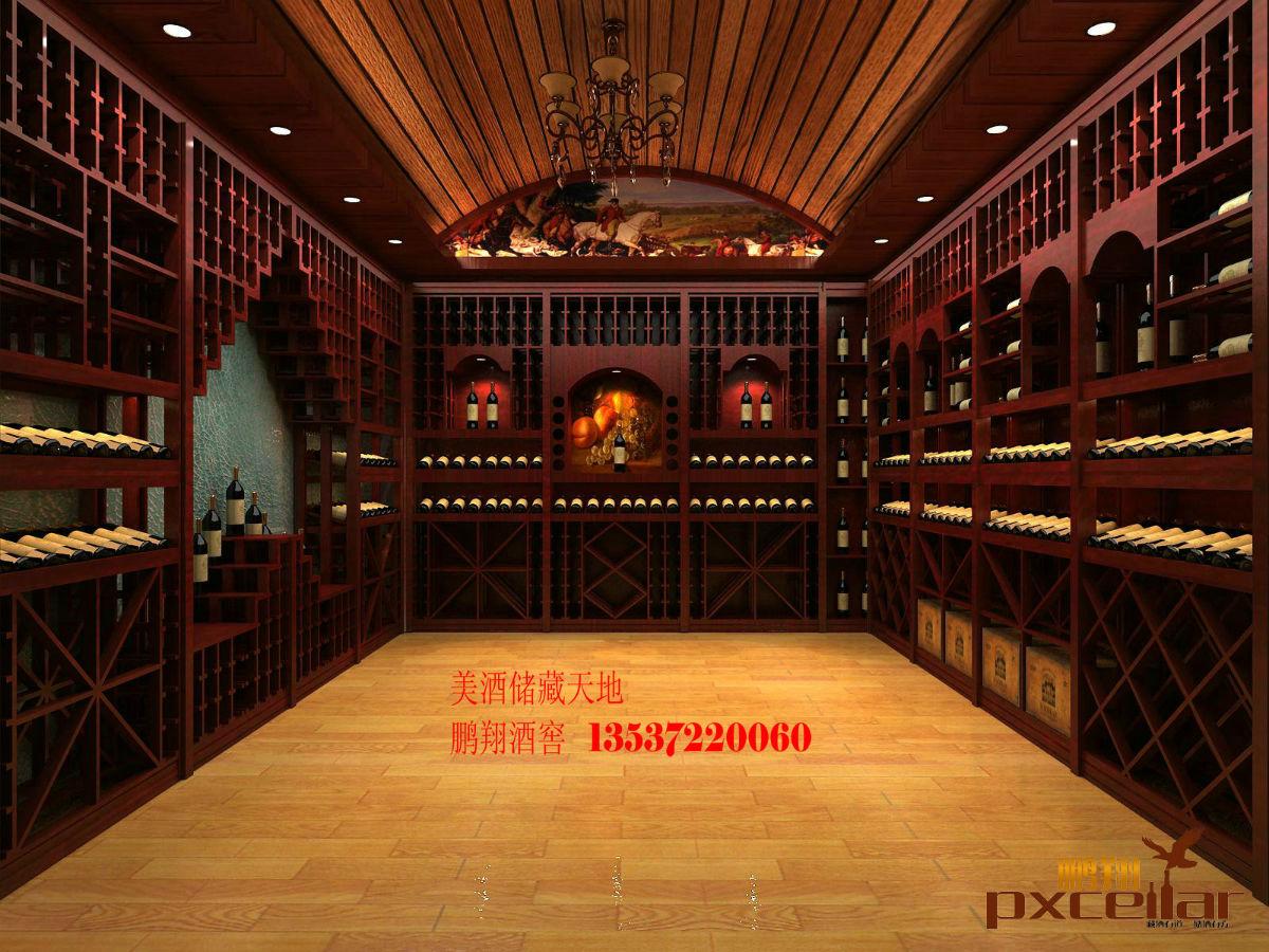 紅酒專賣店酒架設計效果圖