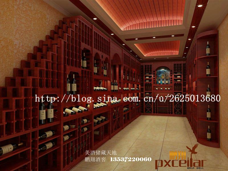 红酒专卖店酒架设计效果图