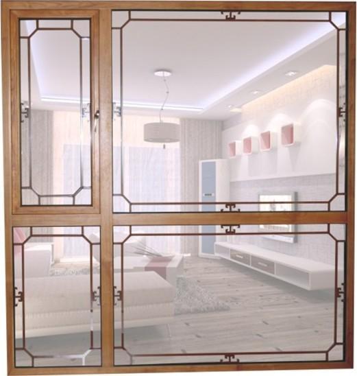 中式铝包木门窗色彩讲究对比,木材是中国风的主要装饰材料,图案配饰多