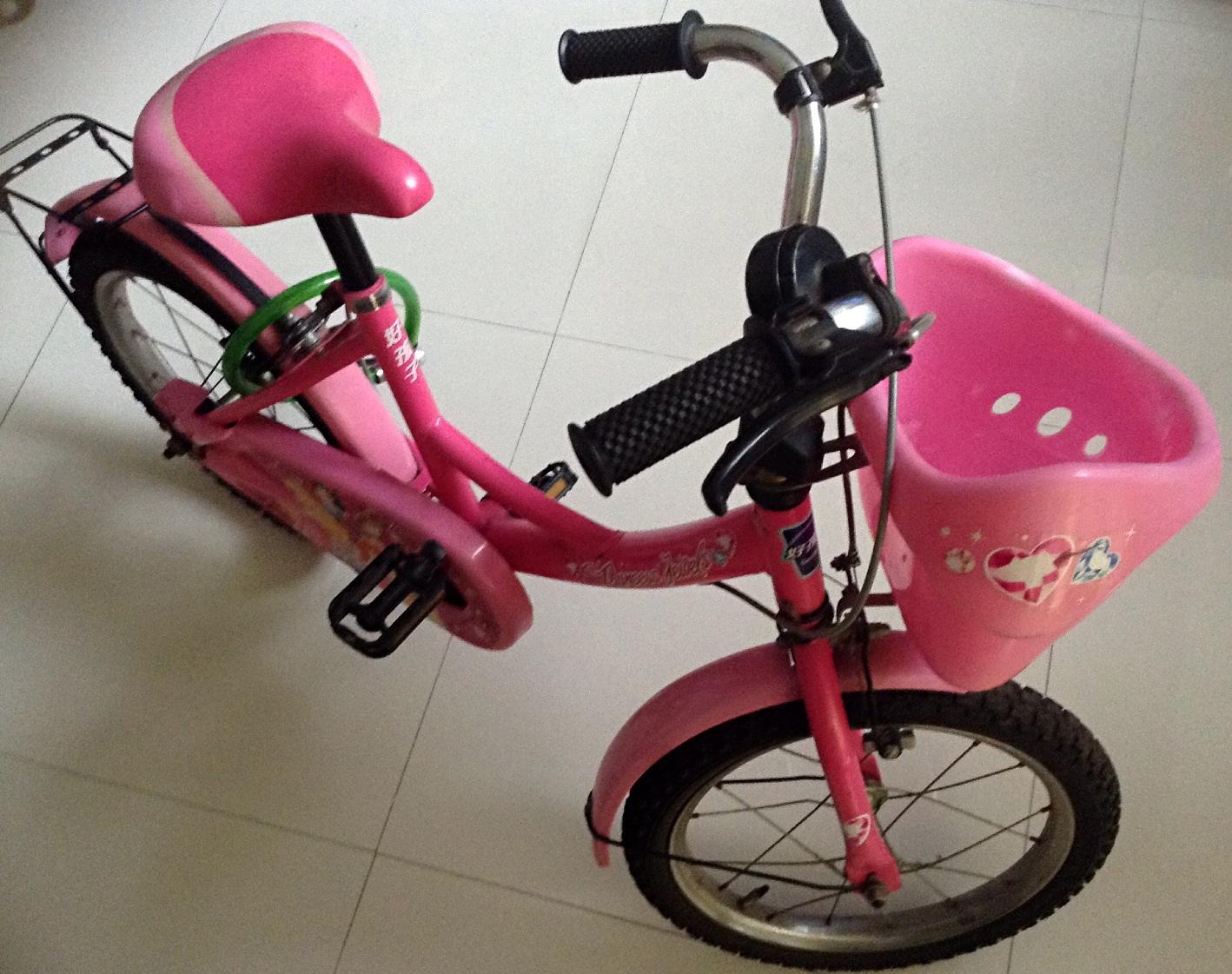 转闲置好孩子16寸儿童自行车-dg1658qx-h113d