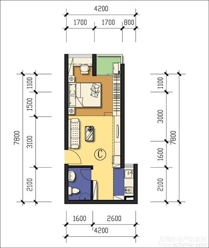 前海公租房-龙海家园户型图以及位置