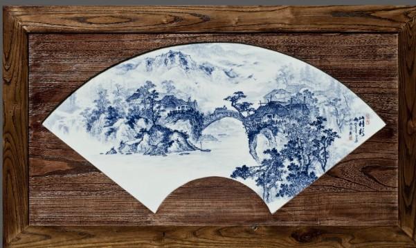现代diy手工版背景青花瓷