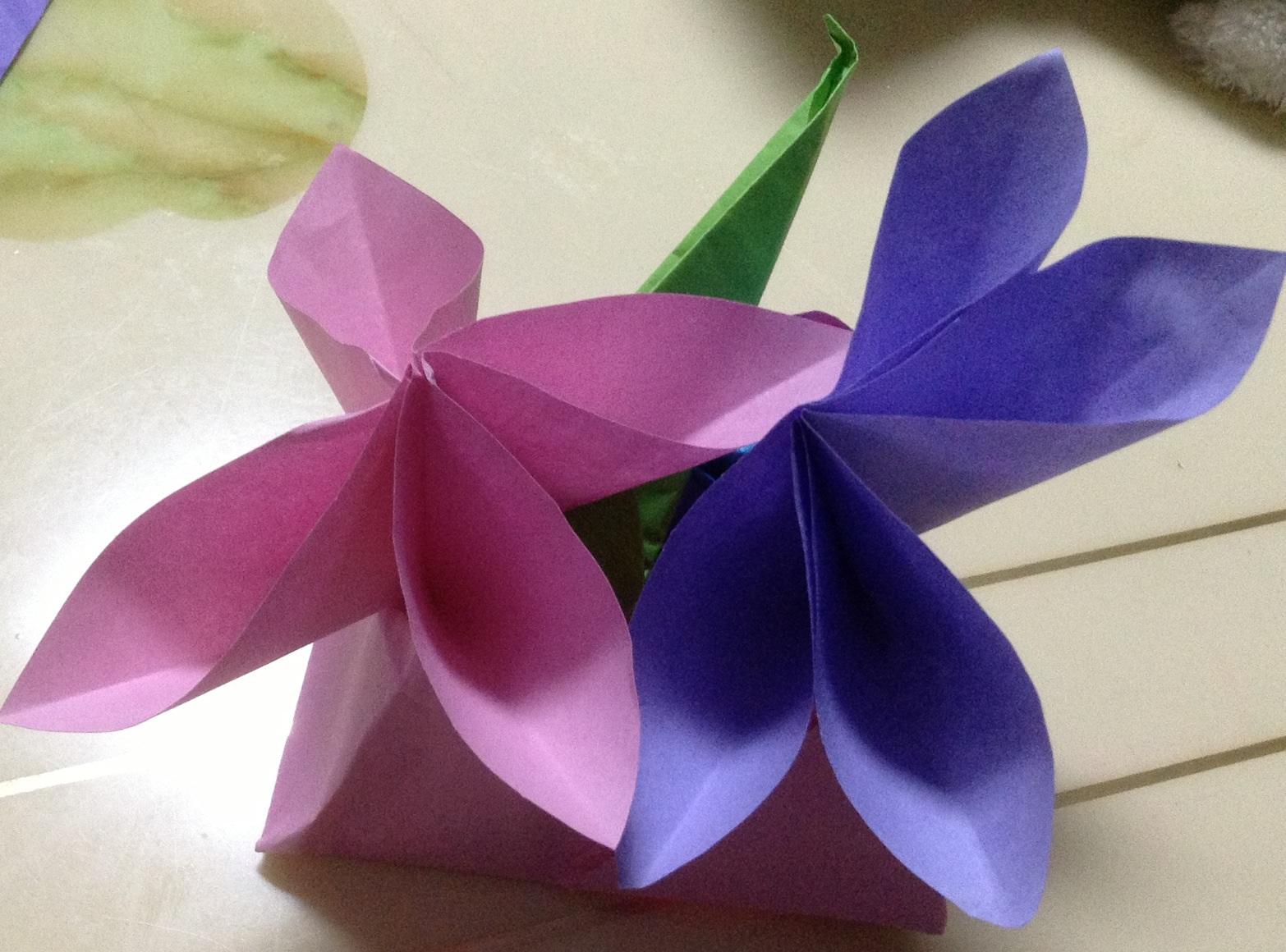手工折纸郁金香视频花步骤图解
