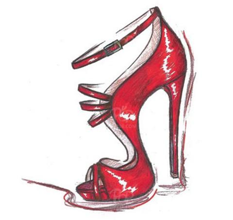女鞋设计手稿赏析