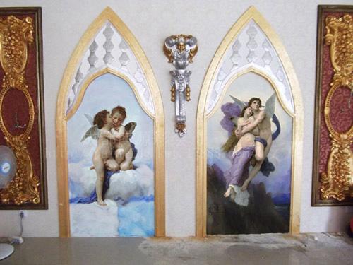 过道装饰手绘墙画艺术