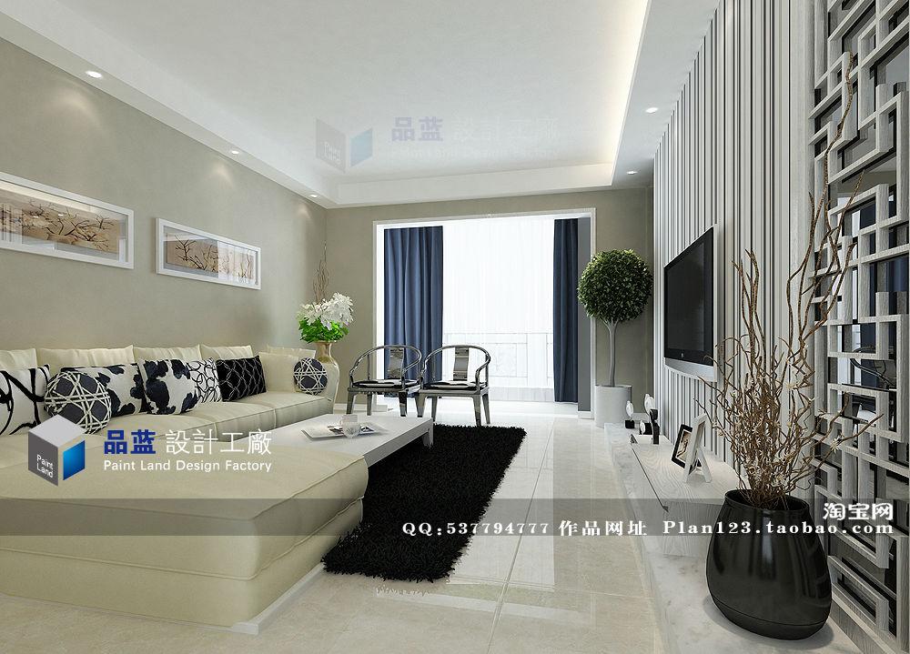 中式神韵 127平米样板房三室二厅二卫装修案例效果图
