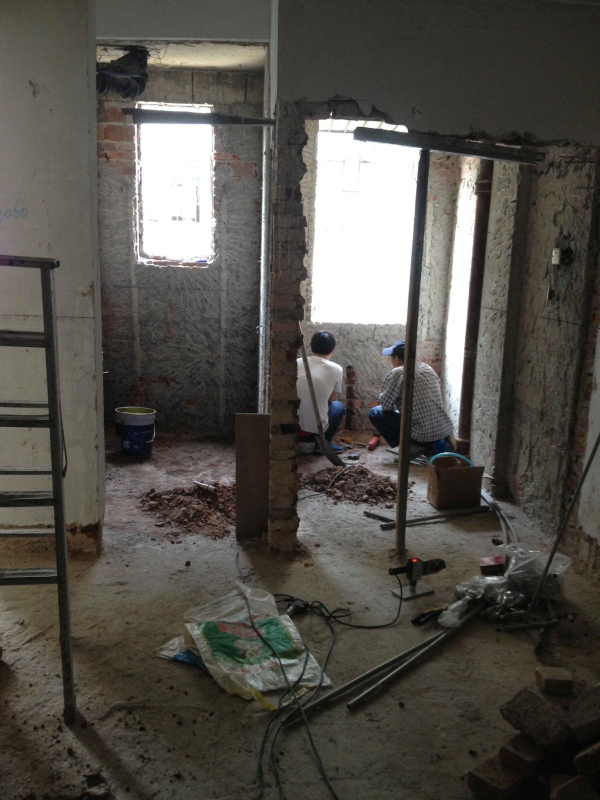 罗湖红岗花园旧房翻新装修过程记录.欢迎多提建议