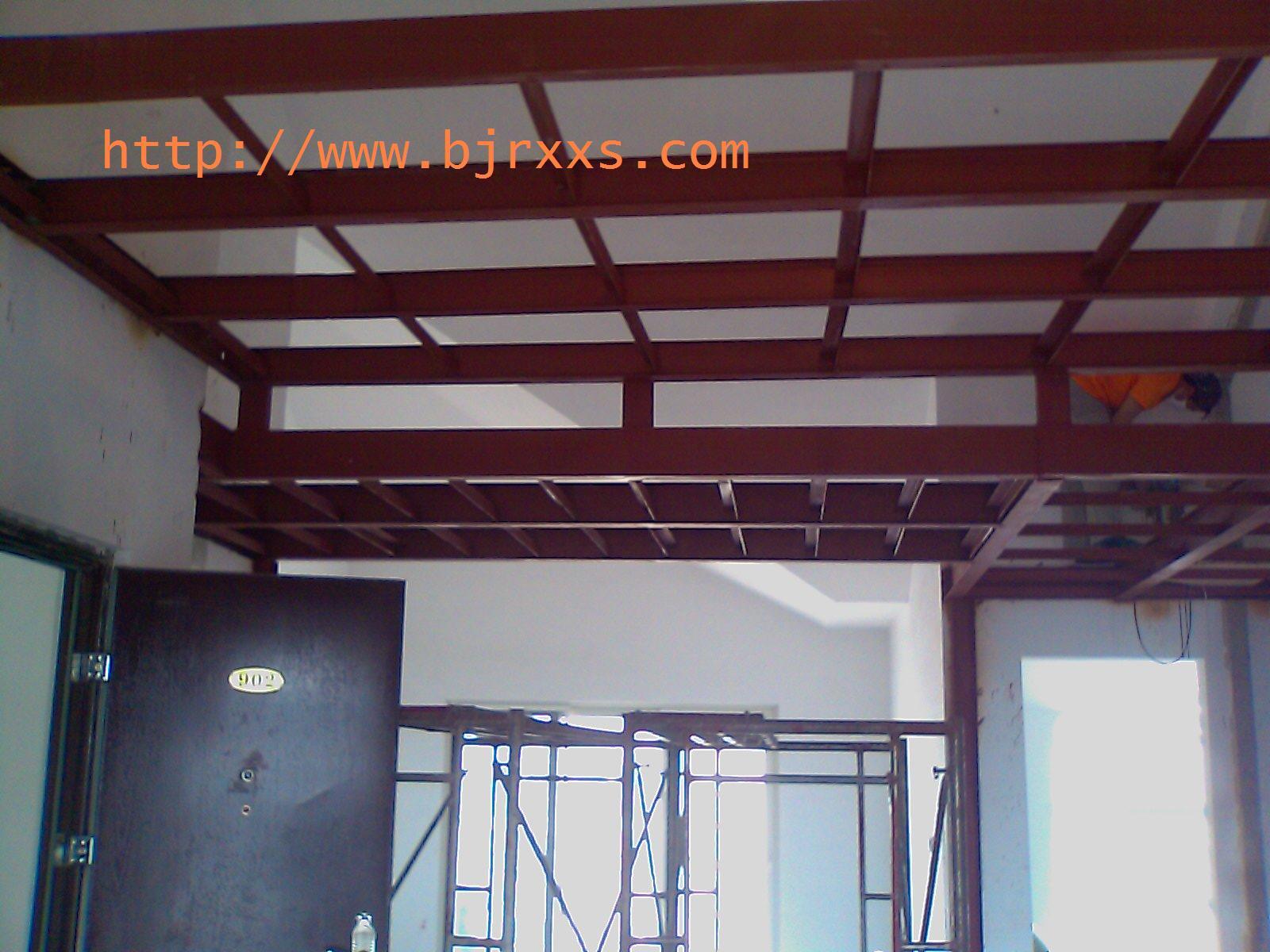 北京搭阁楼88683005做室内钢架二层挑空钢结构钢木楼板制作安装