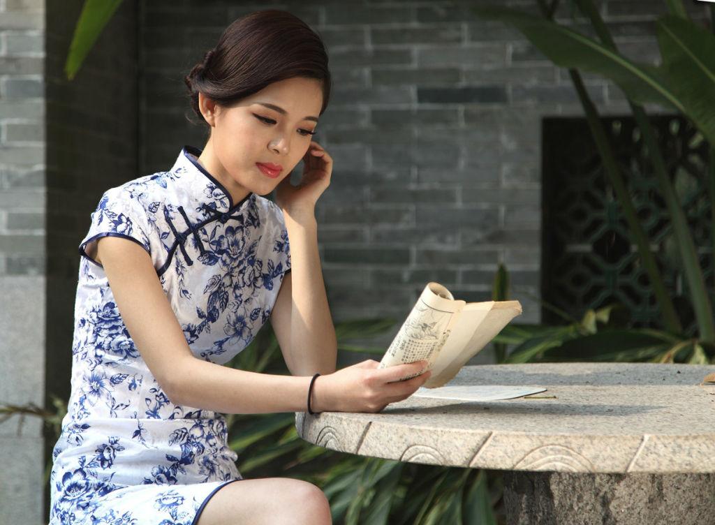 江南风之青花瓷人像创作系列———中式旗袍美女