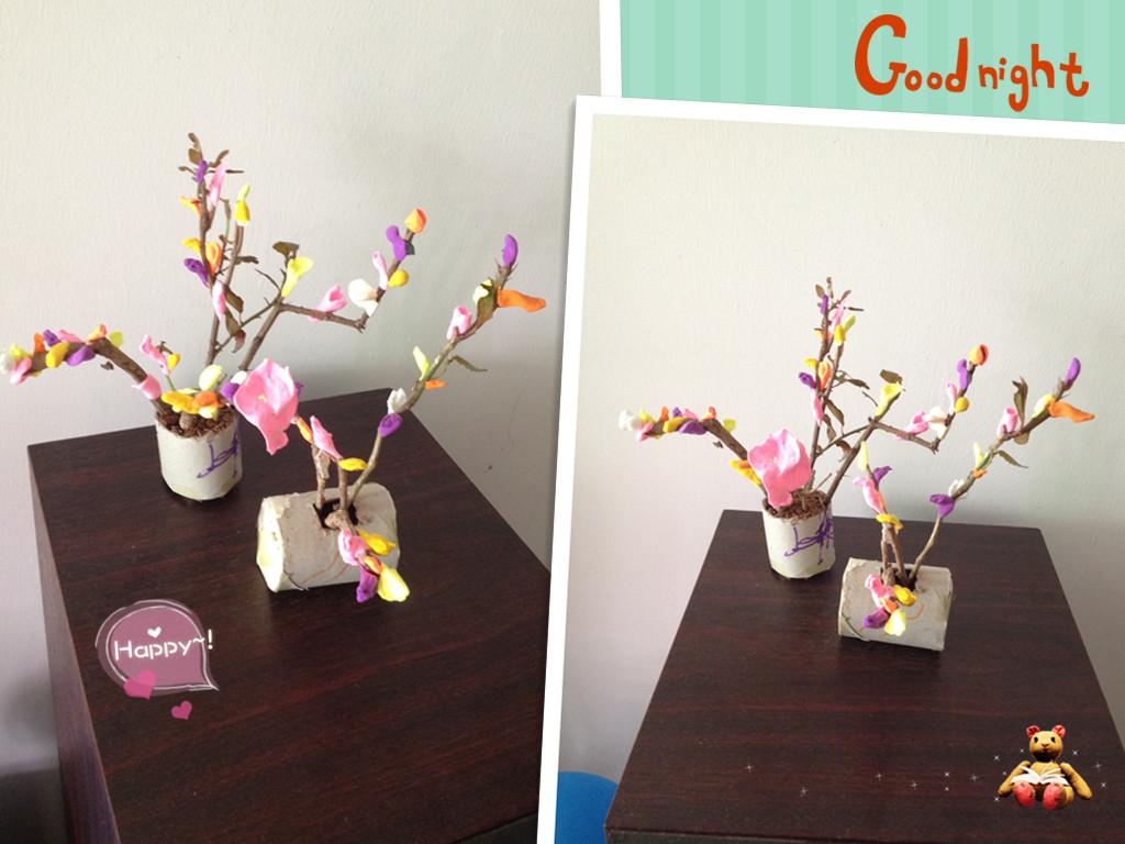 与孩子一起动手制作超轻粘土小树,超简单哦 - 深圳房