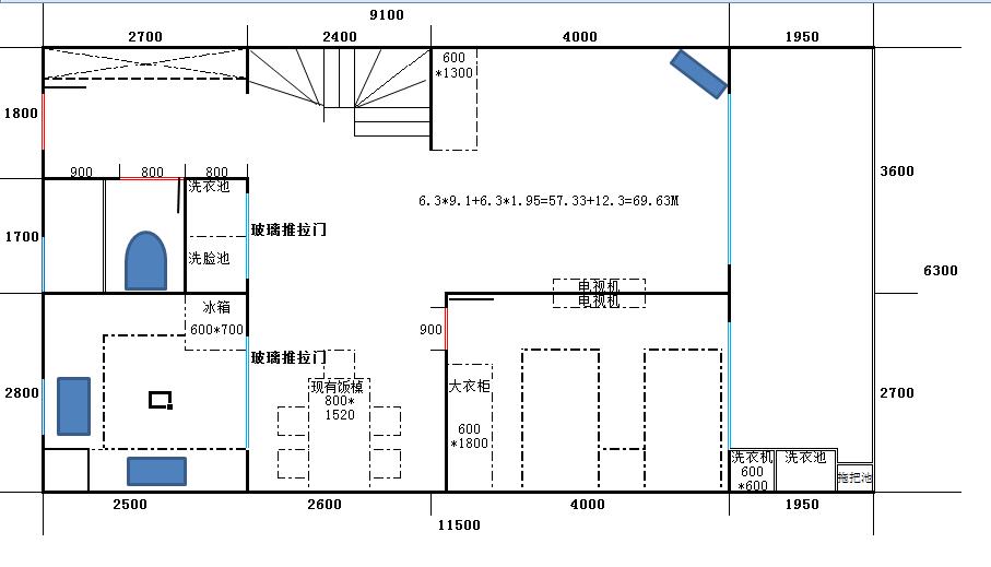关于楼中楼四房变五房设计图纸
