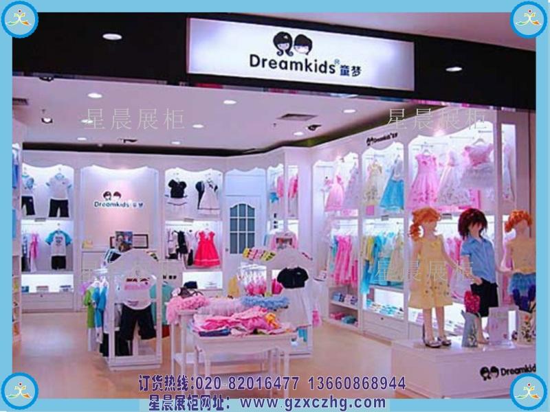 童装店展柜童装展示柜设计装修效果图