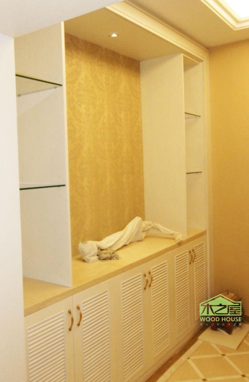 红树湾室内家具实木衣柜实木橱柜装修效果实拍图片