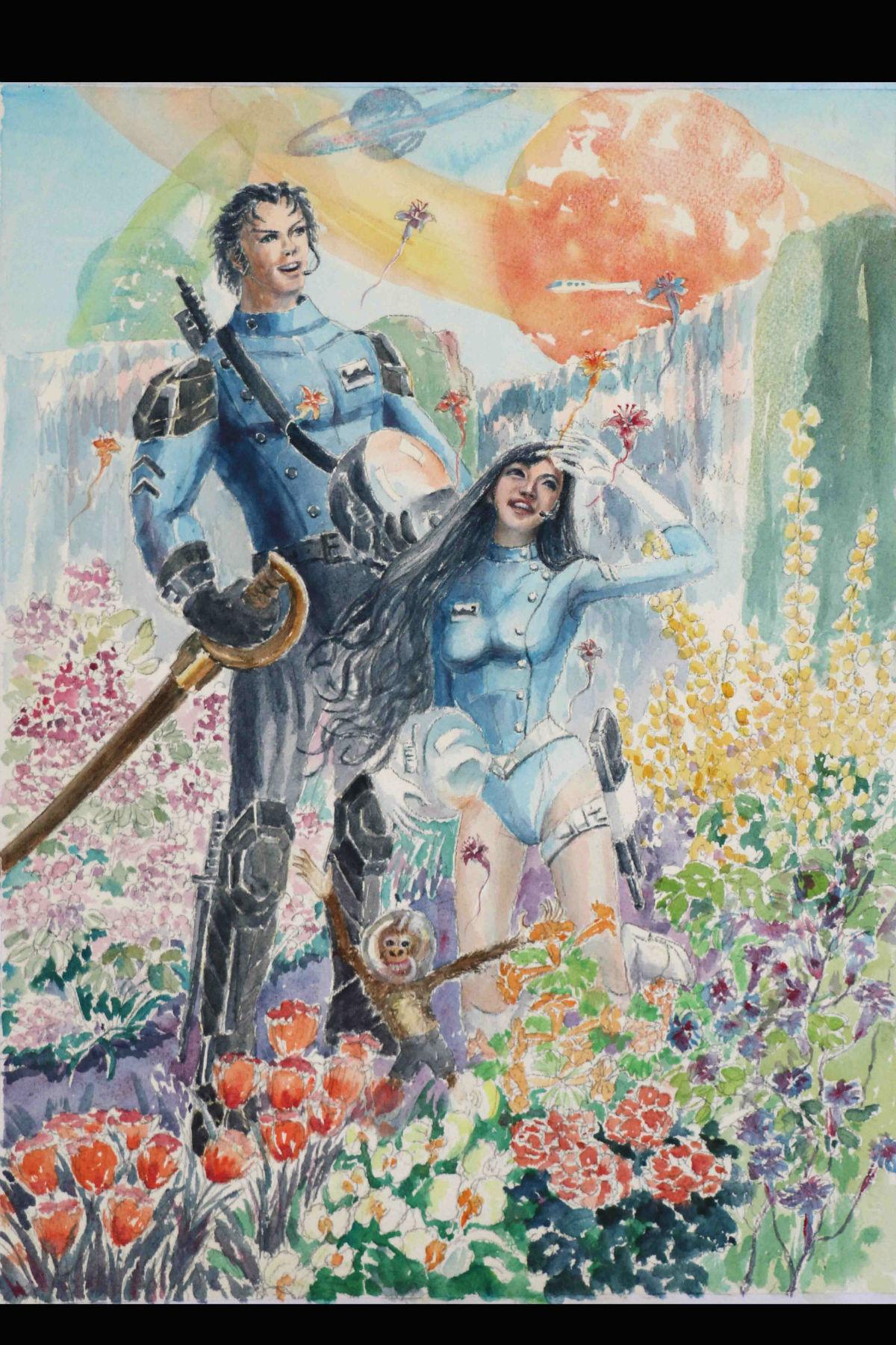 深圳南山素描水彩水粉速写油画漫画时装画建筑园林图