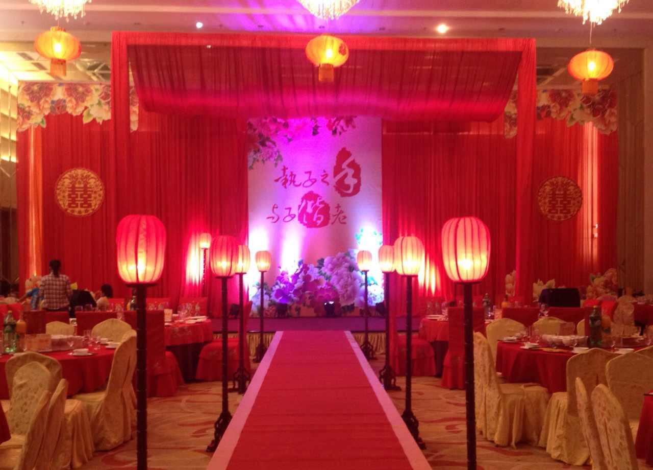婚礼现场布置分享,大红色