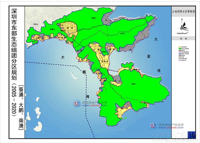 大鹏新区手绘地图
