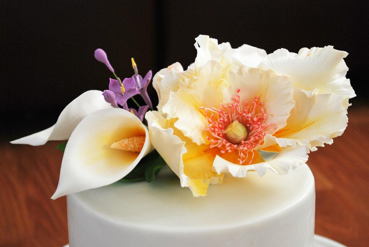 婚7周年纪念日,蛋糕,花儿.图片