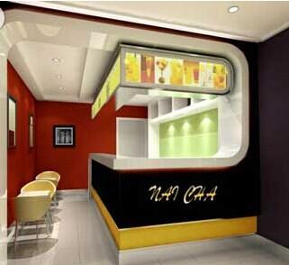 > 30多平奶茶店求装修设计图与施工