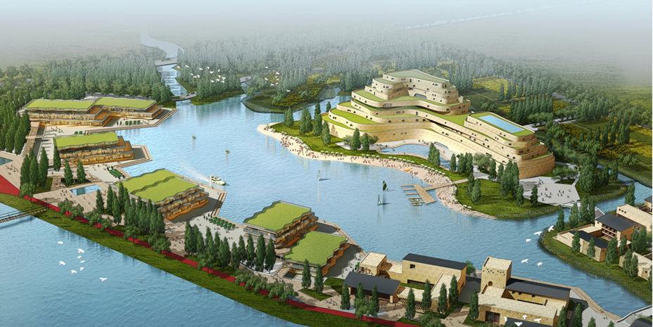 甘肃张掖市高台县骆驼驿旅游风情小镇526亩地出售