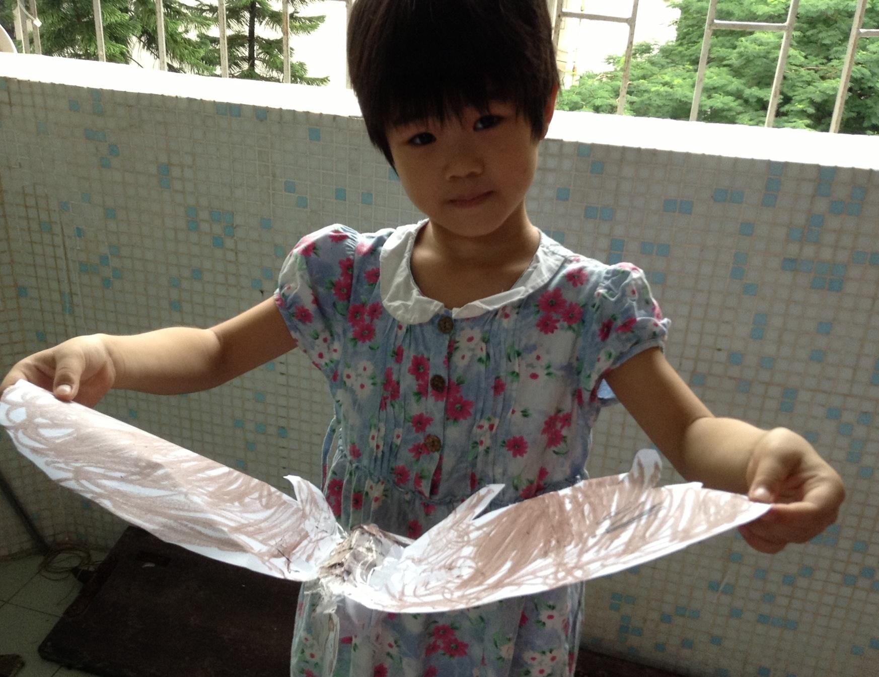 > 豌豆的折纸手工