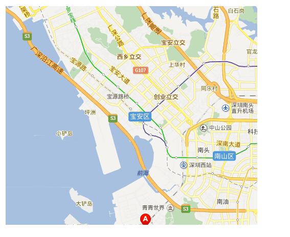 深圳西部通道侧接线
