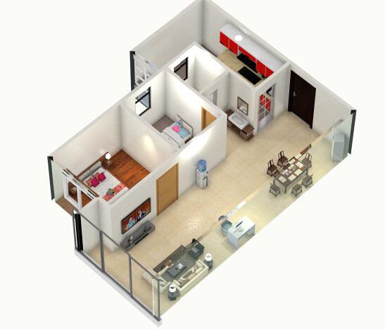 【a户型】装修效果图 人才公租房平台的想象力