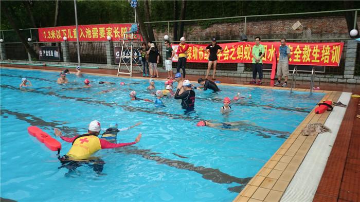 罗湖工人文化宫游泳池蚂蚁兵团水上急救培训活动