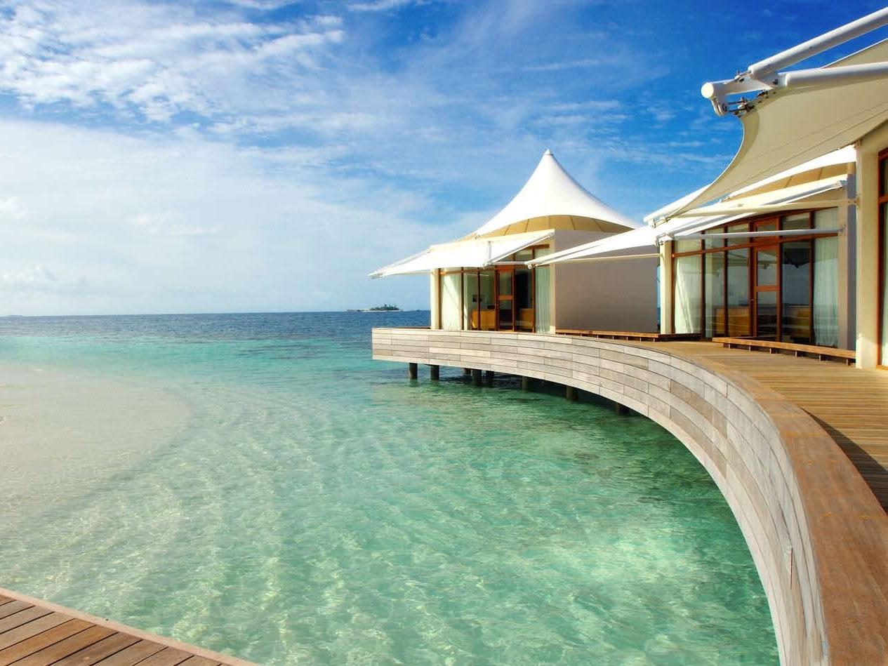 海边美景与房子
