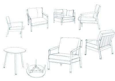 家具 简笔画 手绘 线稿 椅 椅子 400_282