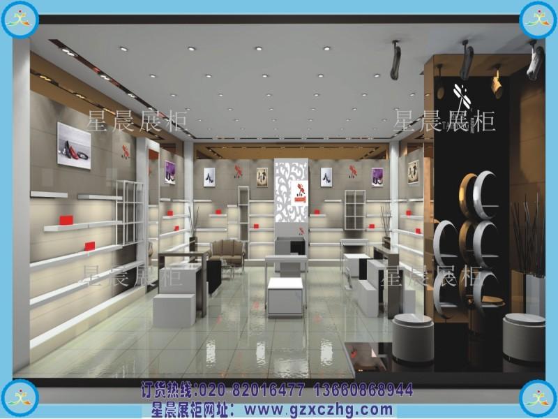 超市鞋店展柜装修设计效果图