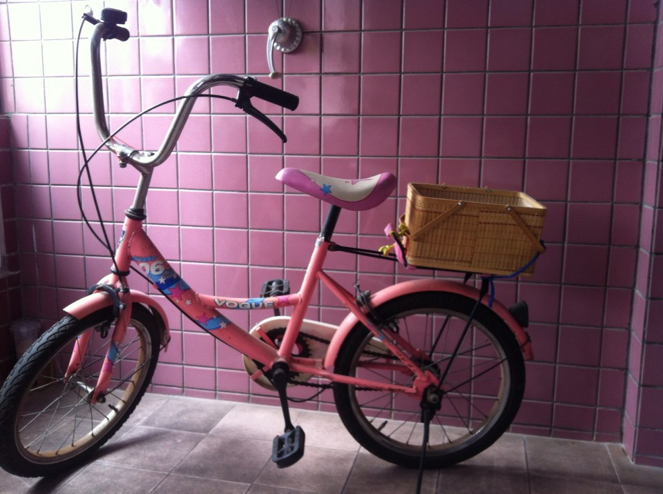 大童粉色自行车50元拿走