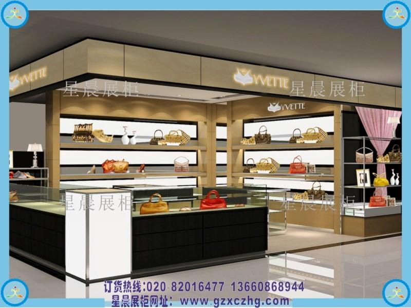 鞋店皮具店装修图 广州星晨展柜厂定做鞋店装修设计效果图