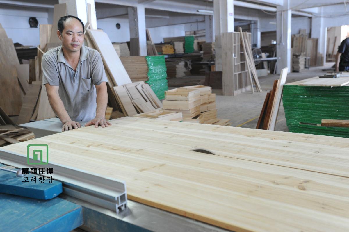 > 高丽住建图解实木衣柜制作过程