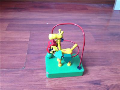 10,实木长颈鹿玩具 可帮助孩子认知颜色,花朵和小动物图片