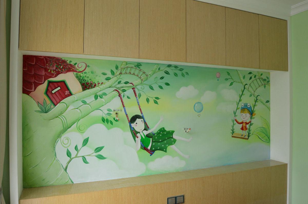 墙绘手绘墙画展示