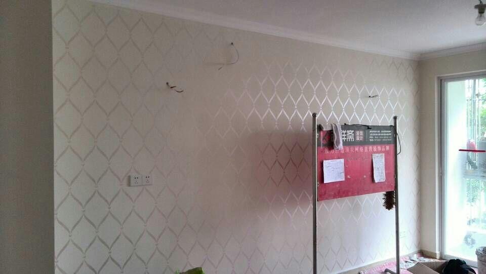 沙发背景墙和电视背景墙都是艺术漆刷出来的