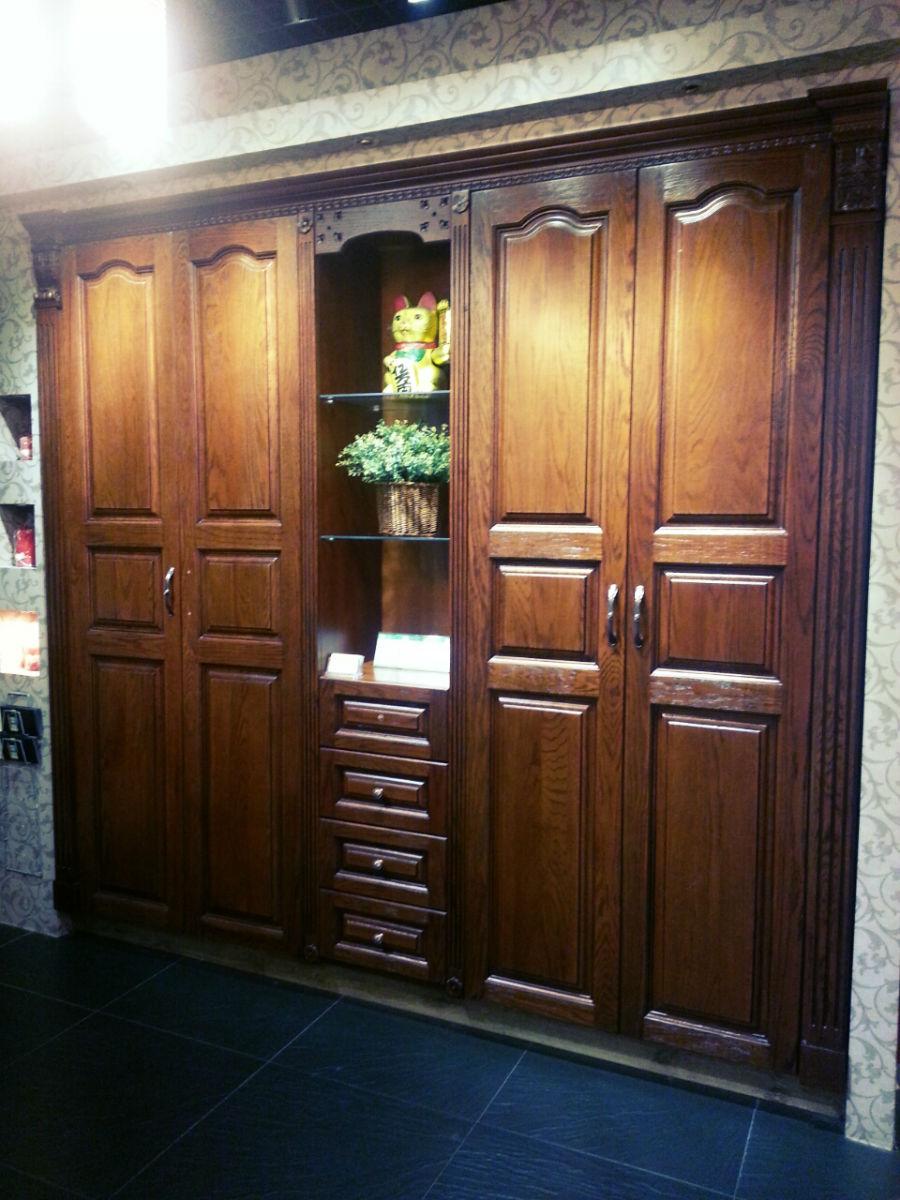 实木衣柜:进口美国橡木:w2500*h2260*d450