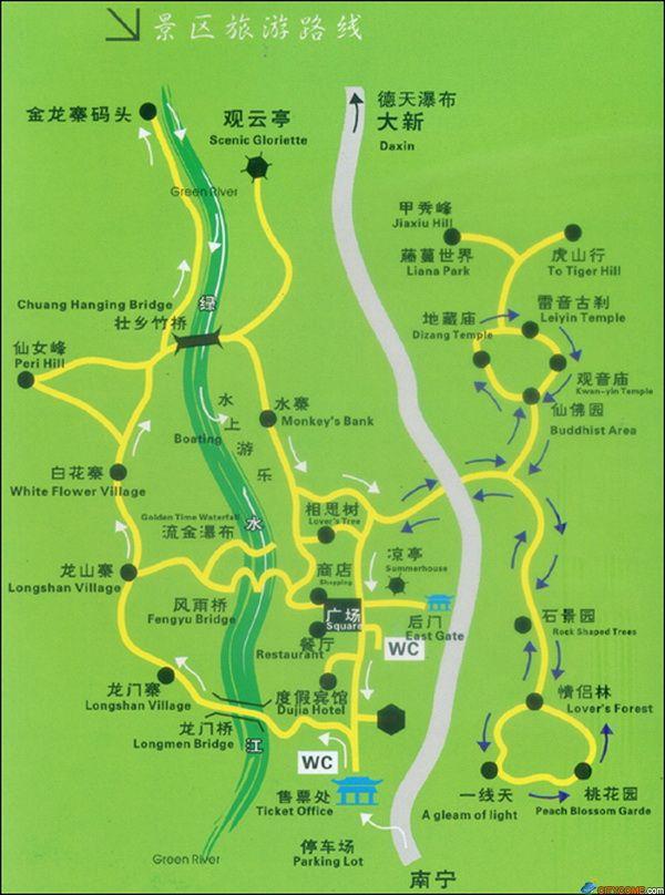 龙虎山风景区景点地图
